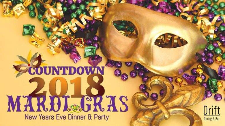 drift dining and bar at kl will be having a mardi gras new years eve themed party at 7pm onwards head over to the party and begin the night off with